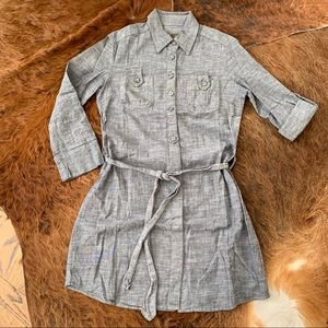 Anthropologie Fei chambray shirtdress XS